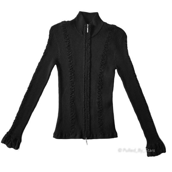 525e6321d6 EXHIBIT A • Sculpture Silk Design Black Jacket